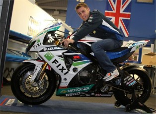 Jules Cluzel tries his GSX-R1000 for size